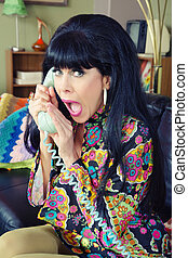 Woman on Phone Whispering