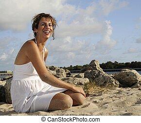 Woman on Sand 1