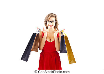 woman on shoping