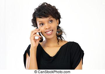 Woman on smart phone