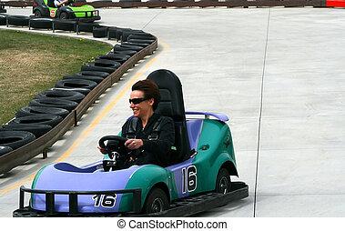 Woman on the Go Cart