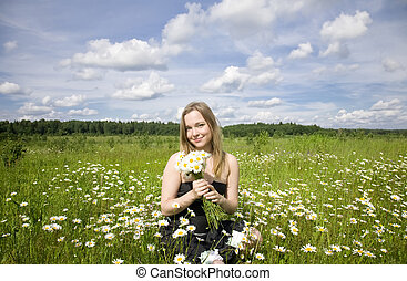 Woman On The Meadow