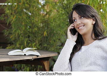 Woman on the phone outdoor