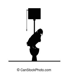 woman on toilet vector silhouette