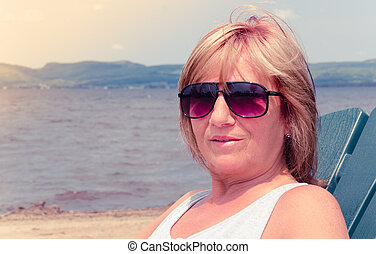 woman on vacation portrait
