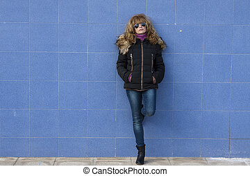 woman on wall