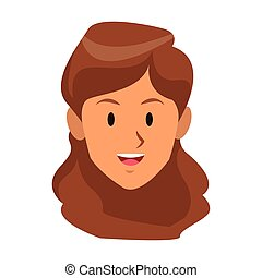 df3251f3666f1 woman only face young brunette smiling vector illustration graphic design · woman  face icon