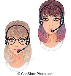 Woman operator profession