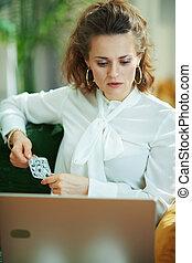 woman ordering medicine online