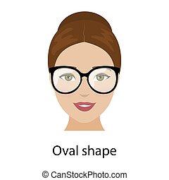 Woman oval face shape