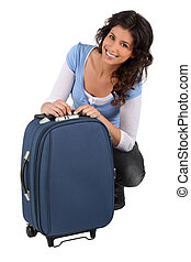 woman packing bag