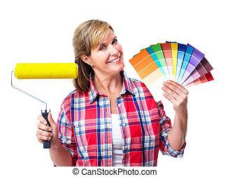 Woman painter.