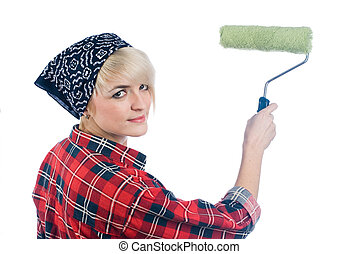 Woman painter