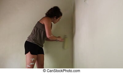 Woman Painting Room