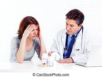 woman., patient, docteur