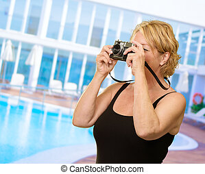 Woman Photographing