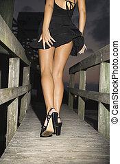 woman., piernas