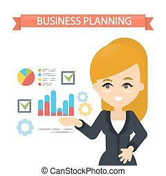 Woman planning business.