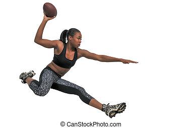 Woman Playing Football