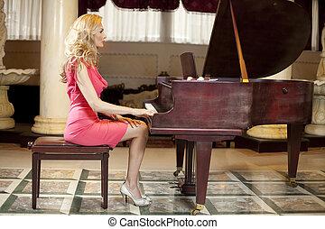 Woman Playing Piano