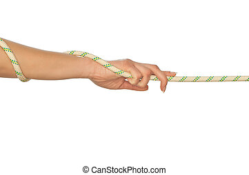 pulling of a rope