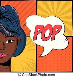 Woman pop art