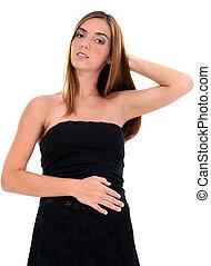 woman portré, fekete