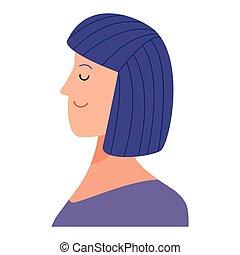 woman portrait avatar cartoon character