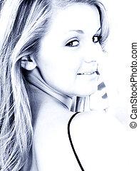 Woman Portrait Blue