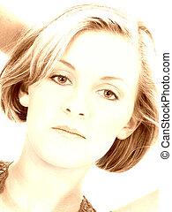 Woman Portrait Gold