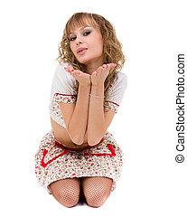 woman portrait in little dress