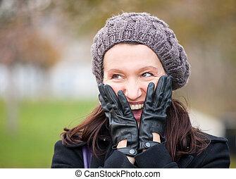 woman portrait in winter