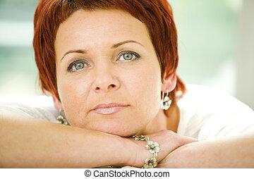Woman - portrait of a nice mature woman