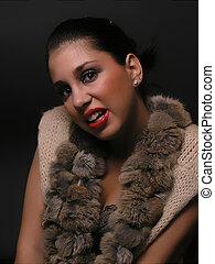 Woman Portrait on dark background