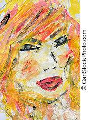 portrait on paper
