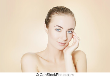 woman portrait,skin revitalizing concept - skin revitalizing...