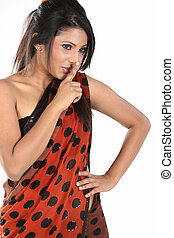 woman posing for silent action