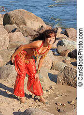 Woman posing in indian dress