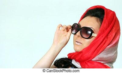 Woman posing in Sophie Loren style