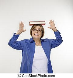 Woman posture balance.