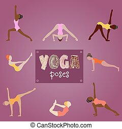 woman practicing yoga for design. S