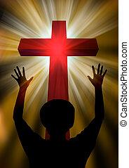 Woman praising god - Woman worship and praise. Jesus Christ...