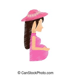 woman pregnant waiting expectant vector illustration eps 10