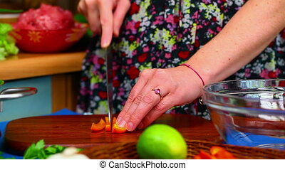 Woman preparing food in the kitchen episode 6