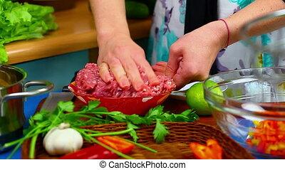 Woman preparing food 9