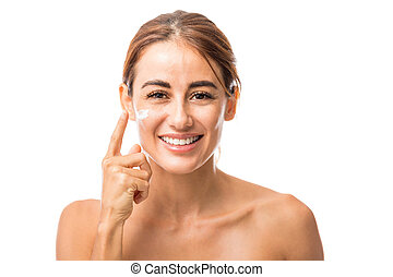 Woman Preventing Signs Of Skin Aging