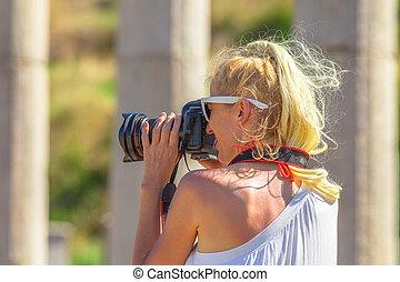 Woman professional photographer