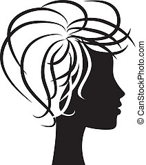 woman profile - beautiful woman head profile silhouette