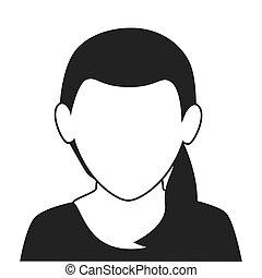 woman profile face icon vector illustration