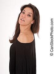 Woman profile in black